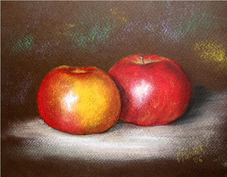 CRVENE, pastel, 17x20 cm
