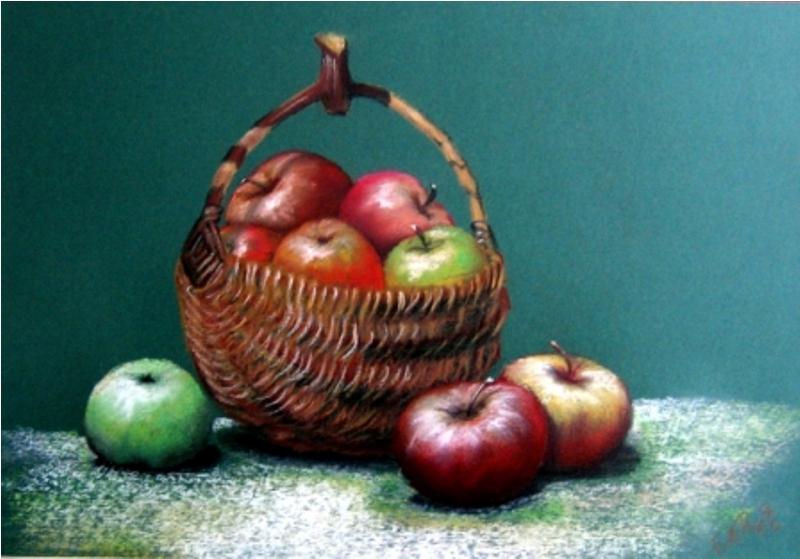 JABUKE,pastel,45x50 cm,2006