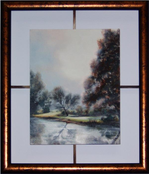 Pejzaz, 22x18 cm, ulje na medijapanu