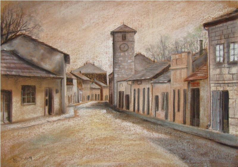 STARA ČARŠIJA,pastel papir,50 x  70 cm