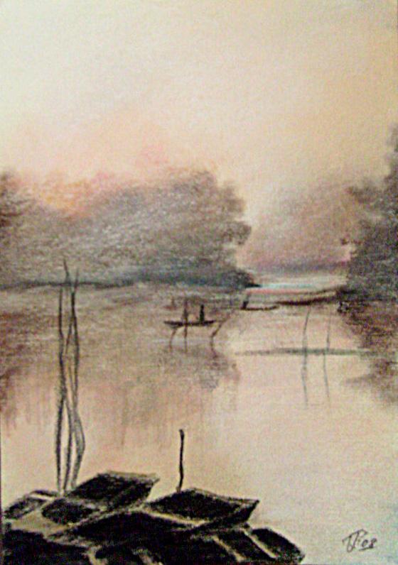U MAGLI ,30 X 20,5 cm,pastel,papir